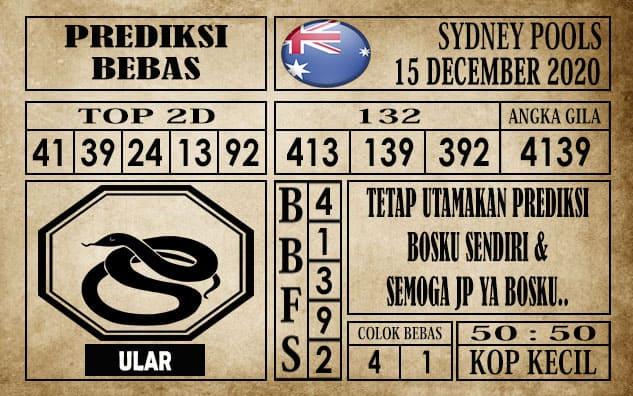 Prediksi Sydney Pools Hari Ini 15 Desember 2020