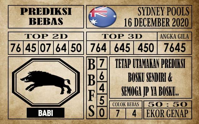 Prediksi Sydney Pools Hari Ini 16 Desember 2020