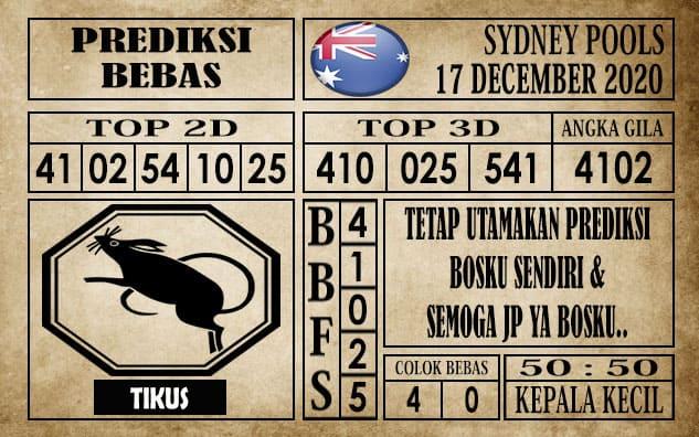 Prediksi Sydney Pools Hari Ini 17 Desember 2020