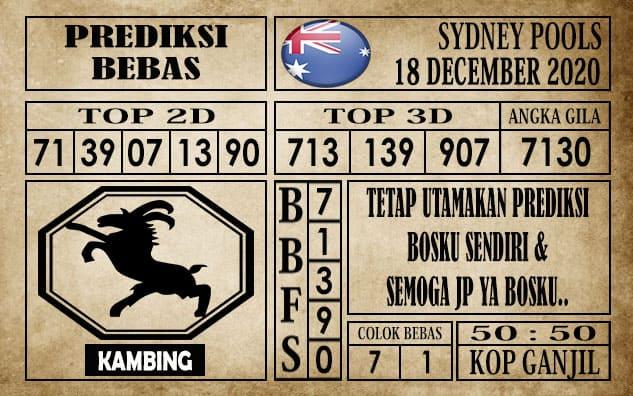 Prediksi Sydney Pools Hari Ini 18 Desember 2020
