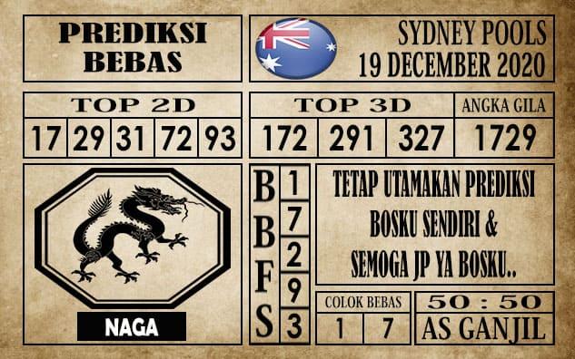Prediksi Sydney Pools Hari Ini 19 Desember 2020