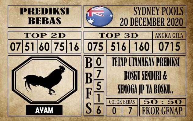 Prediksi Sydney Pools Hari Ini 20 Desember 2020