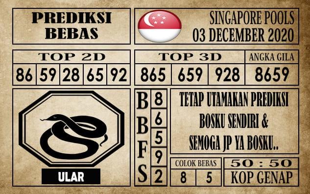 Prediksi Singapore Pools Hari ini 03 Desember 2020