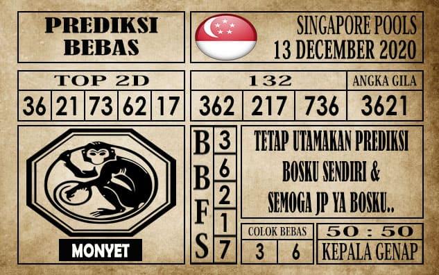 Prediksi Singapore Pools Hari ini 13 Desember 2020