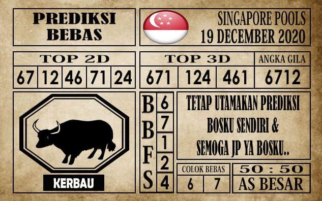 Prediksi Singapore Pools Hari ini 19 Desember 2020