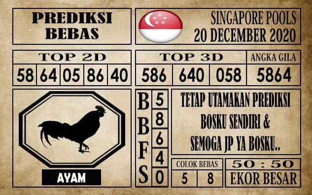 Prediksi Singapore Pools Hari ini 20 Desember 2020