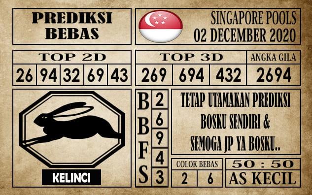 Prediksi Singapore Pools Hari ini 02 Desember 2020