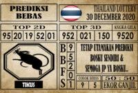 Prediksi Thailand Lottery Hari Ini 30 Desember 2020