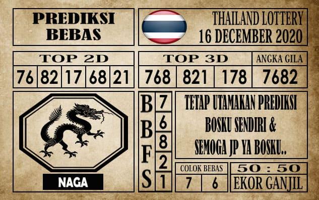 Prediksi Thailand Lottery Hari Ini 16 Desember 2020