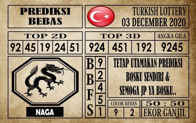 Prediksi Turkish Lottery Hari Ini 03 Desember 2020