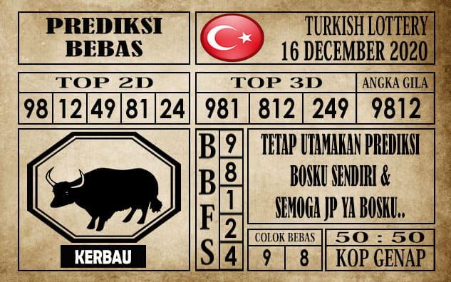Prediksi Turkish Lottery Hari Ini 16 Desember 2020