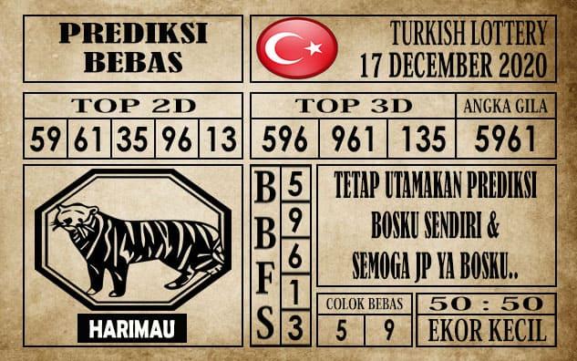Prediksi Turkish Lottery Hari Ini 17 Desember 2020