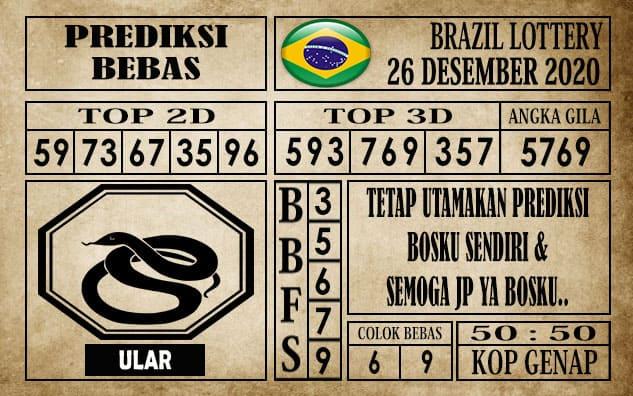 Prediksi Brazil Lottery Hari Ini 26 Desember 2020