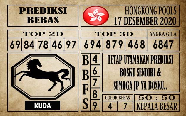 Prediksi Hongkong Pools Hari Ini 17 Desember 2020