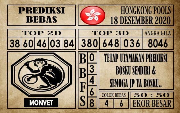 Prediksi Hongkong Pools Hari Ini 18 Desember 2020