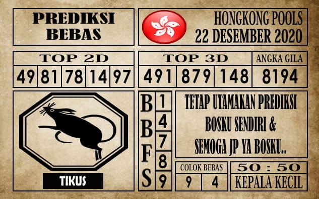 Prediksi Hongkong Pools Hari Ini 22 Desember 2020