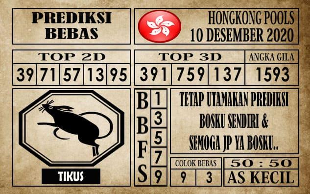 Prediksi Hongkong Pools Hari Ini 10 Desember 2020