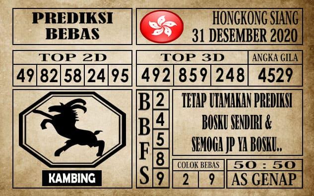 Prediksi Hongkong Siang Hari ini 31 Desember 2020