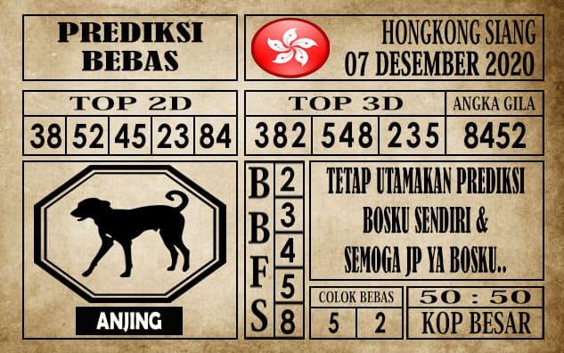 Prediksi Hongkong Siang Hari ini 07 Desember 2020