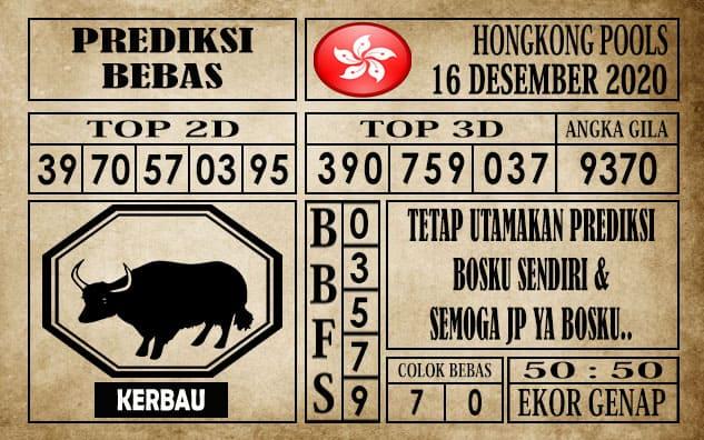 Prediksi Hongkong Pools Hari Ini 16 Desember 2020