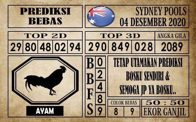 Prediksi Sydney Pools Hari ini 04 Desember 2020