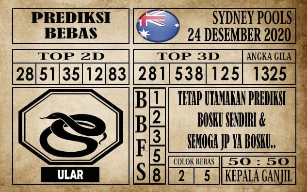 Prediksi Sydney Pools Hari ini 24 Desember 2020
