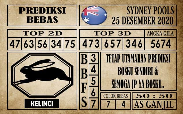 Prediksi Sydney Pools Hari ini 25 Desember 2020