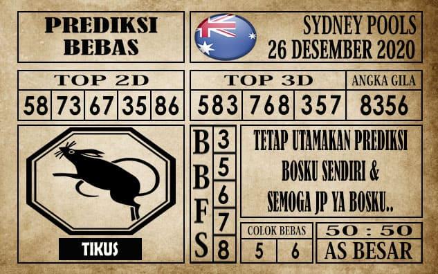 Prediksi Sydney Pools Hari ini 26 Desember 2020