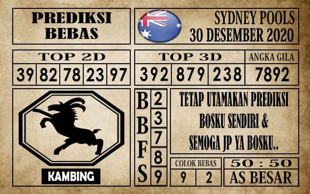 Prediksi Sydney Pools Hari ini 30 Desember 2020