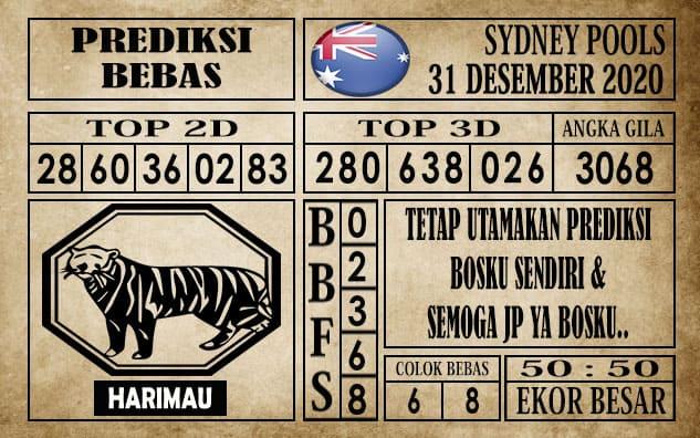 Prediksi Sydney Pools Hari ini 31 Desember 2020