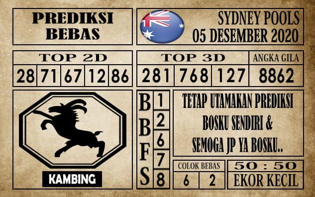 Prediksi Sydney Pools Hari ini 05 Desember 2020