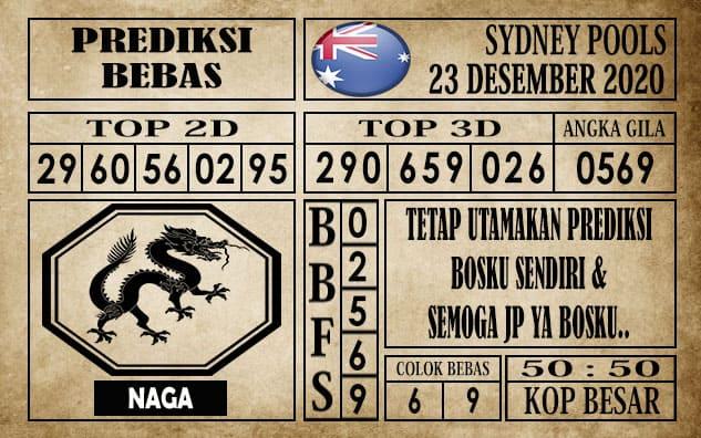 Prediksi Sydney Pools Hari ini 23 Desember 2020