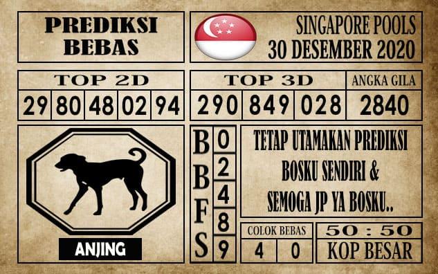 Prediksi Singapore Pools Hari ini 30 Desember 2020