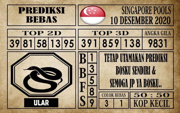 Prediksi Singapore Pools Hari ini 10 Desember 2020