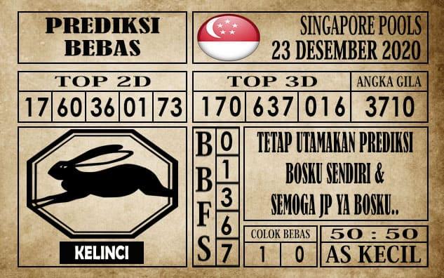 Prediksi Singapore Pools Hari ini 23 Desember 2020
