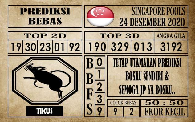 Prediksi Singapore Pools Hari ini 24 Desember 2020