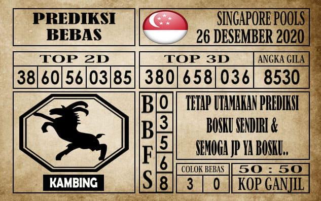 Prediksi Singapore Pools Hari ini 26 Desember 2020
