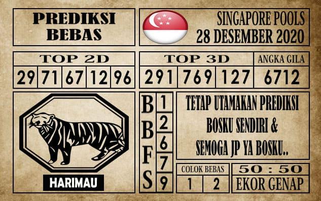 Prediksi Singapore Pools Hari ini 28 Desember 2020
