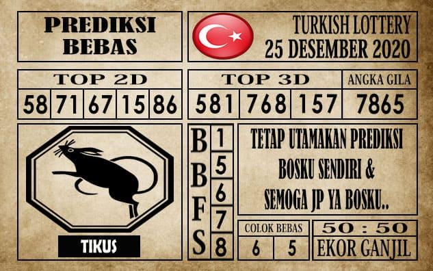 Prediksi Turkish Lottery Hari ini 25 Desember 2020