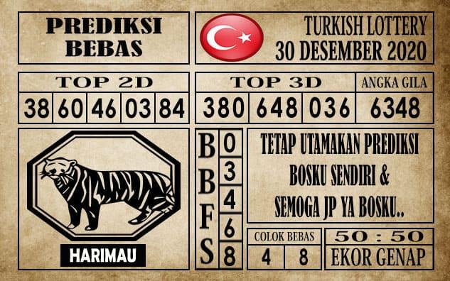 Prediksi Turkish Lottery Hari ini 30 Desember 2020