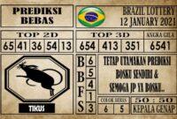 Prediksi Brazil Lottery Hari Ini 12 Januari 2021