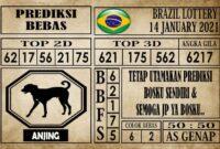 Prediksi Brazil Lottery Hari Ini 14 Januari 2021