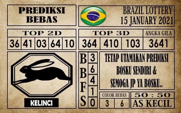 Prediksi Brazil Lottery Hari Ini 15 Januari 2021