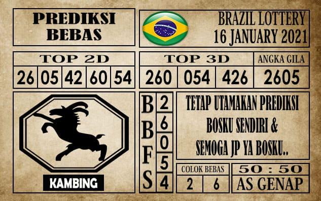 Prediksi Brazil Lottery Hari Ini 16 Januari 2021