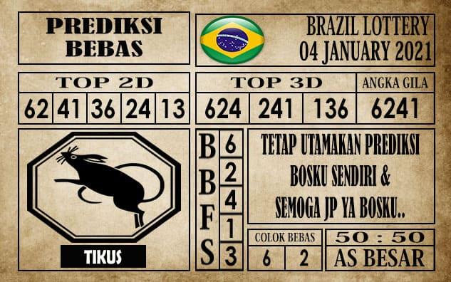 Prediksi Brazil Lottery Hari Ini 04 Januari 2021