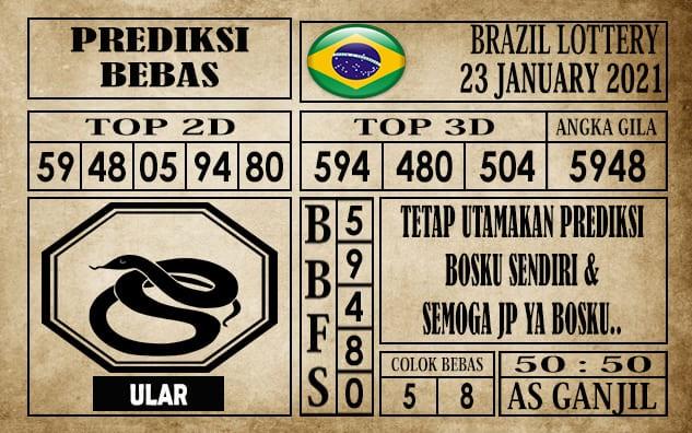 Prediksi Brazil Lottery Hari Ini 23 Januari 2021