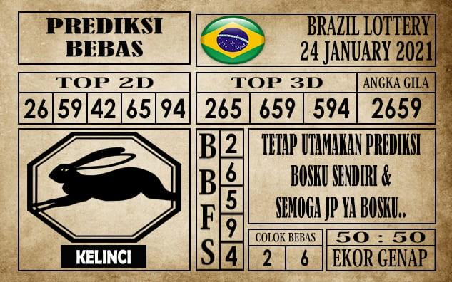 Prediksi Brazil Lottery Hari Ini 24 Januari 2021