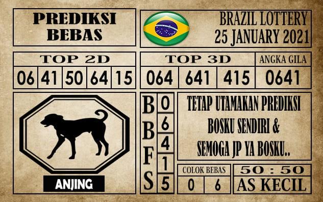 Prediksi Brazil Lottery Hari Ini 25 Januari 2021
