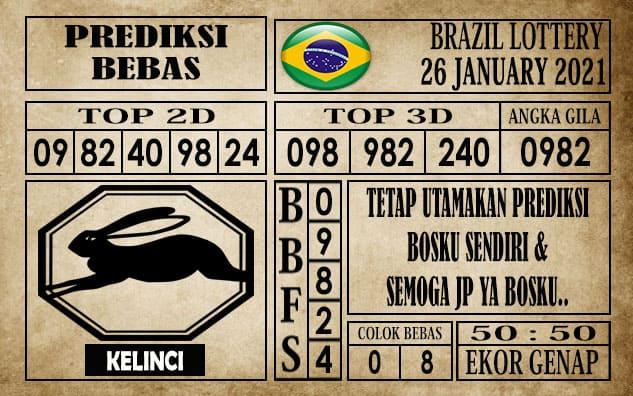 Prediksi Brazil Lottery Hari Ini 26 Januari 2021