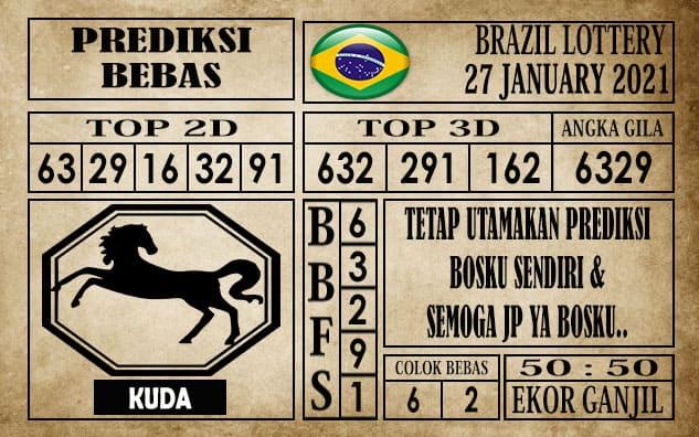 Prediksi Brazil Lottery Hari Ini 27 Januari 2021